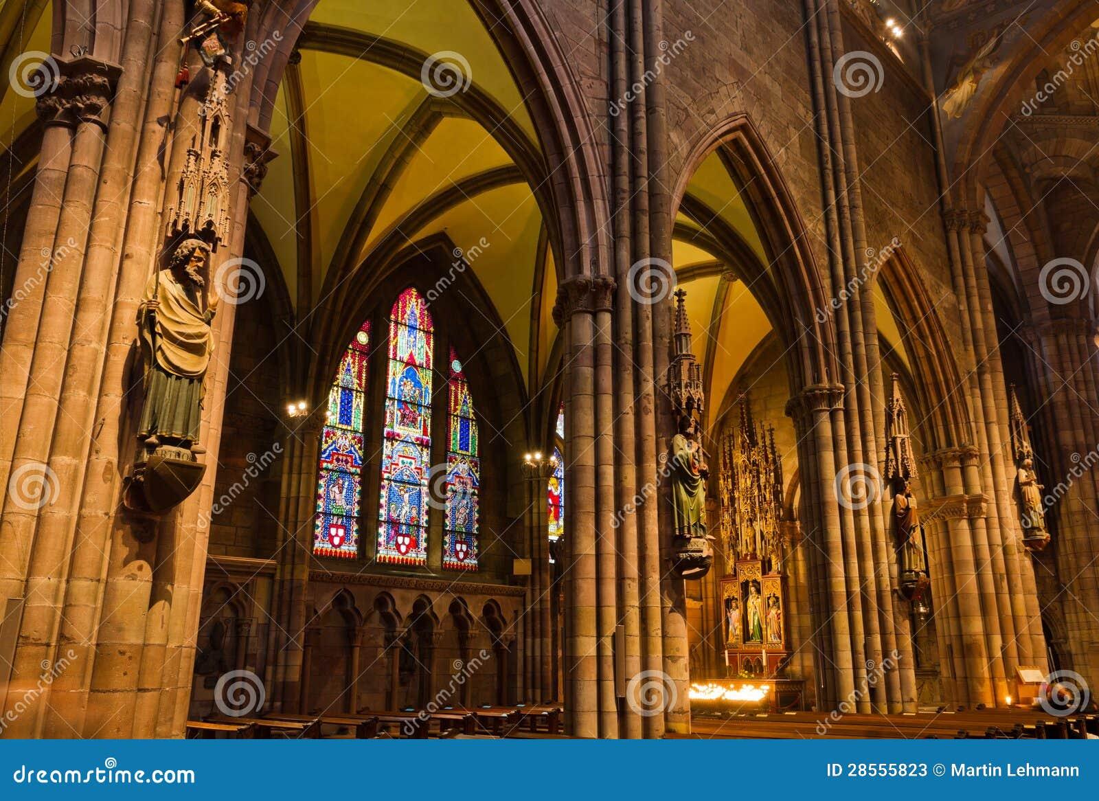 Interior of church freiburg muenster germany stock photos for Interior design freiburg