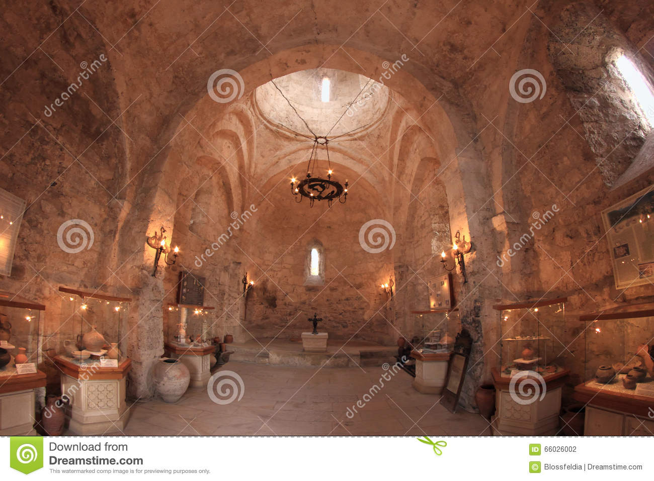 The interior of the Church of Kish, Azerbaijan