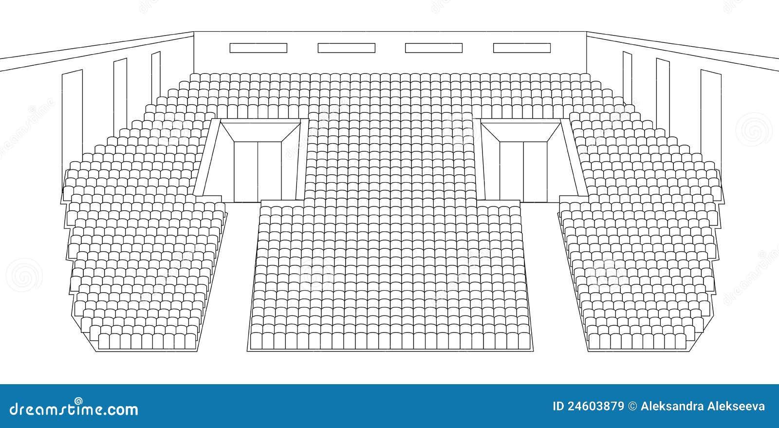 Interior of cinema hall plan royalty free stock images - Imagenes de plantas de interior ...