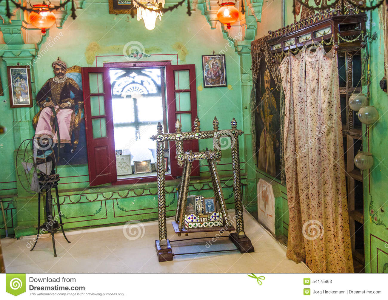 Interior Of The City Palace In Udaipur Editorial Stock Photo