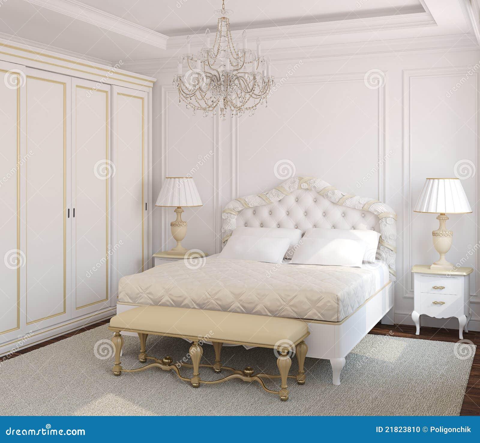 Interior clásico del dormitorio.