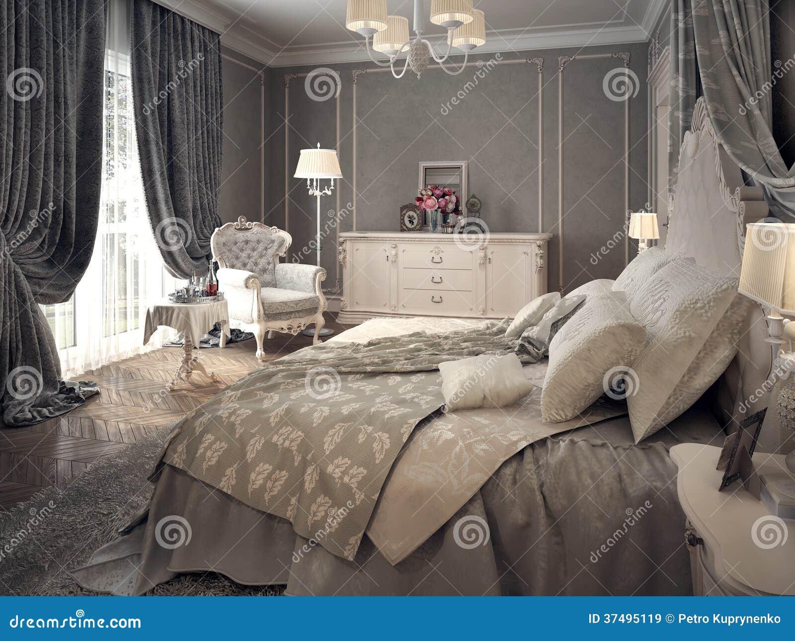 Interior clásico del dormitorio