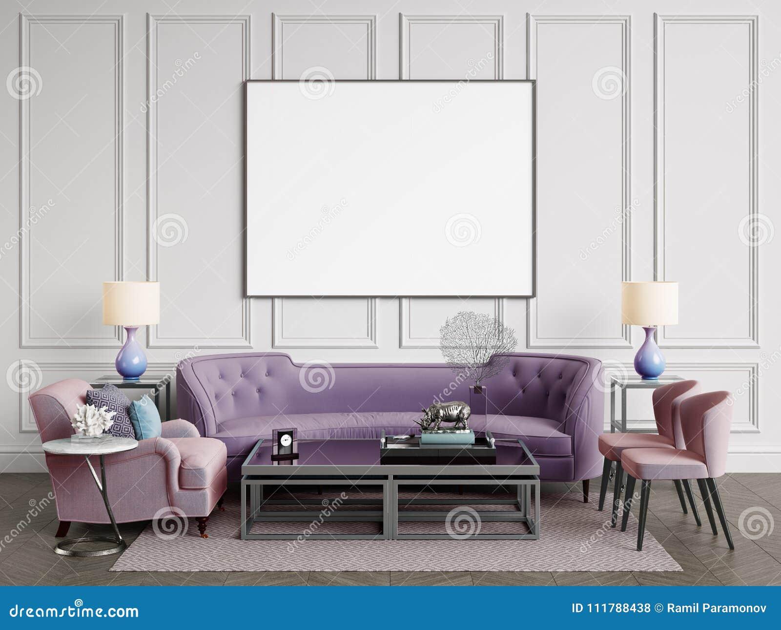 SofáSillasSidetables Con Interior Clásico Lámparas Las ImgyYb6f7v