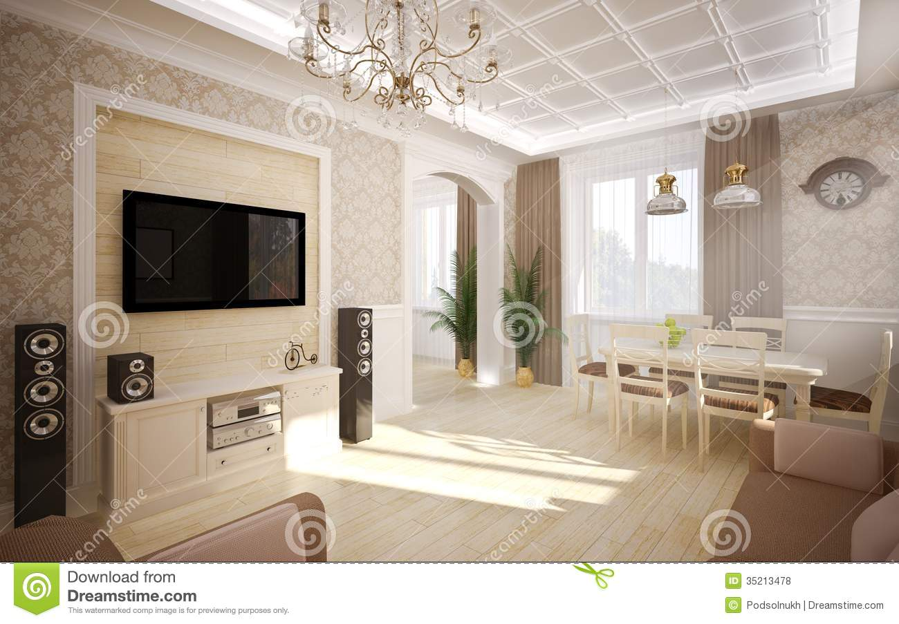 Interior in classic style stock photo image of arts for Classic style interior