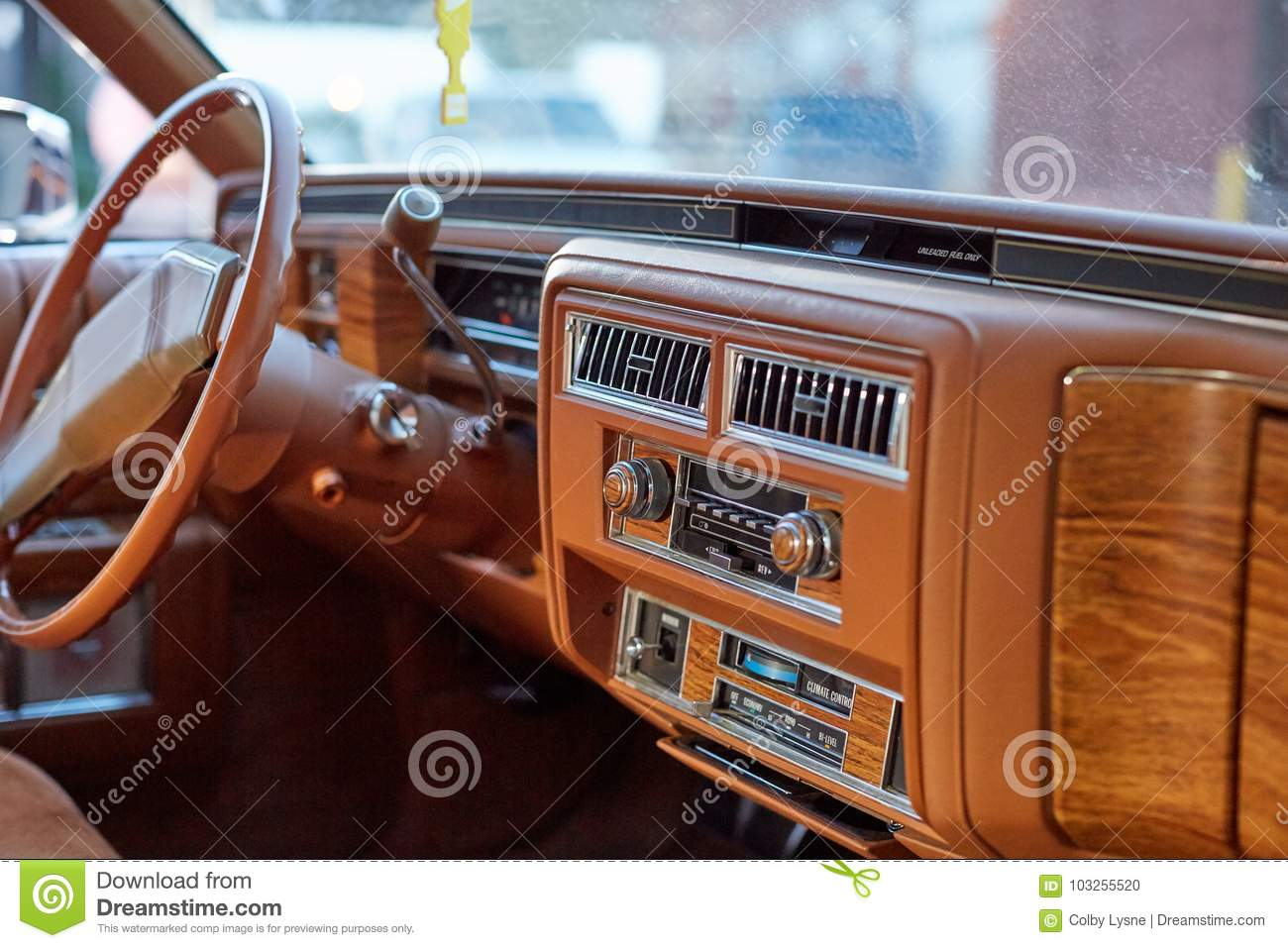 Interior Of A Classic Vintage Car Stock Photo Image Of Design