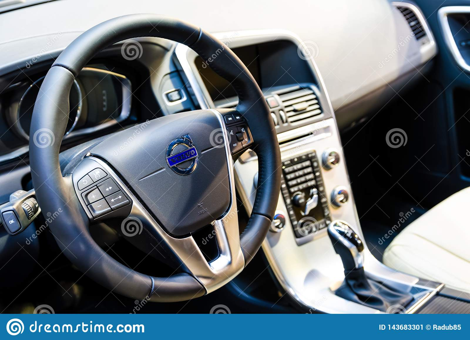 Interior Cockpit View Of Volvo Car Editorial Photo Image Of Design Light 143683301