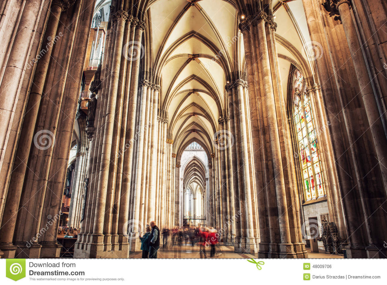 Interior Of Cologne Cathedral Stock Photography