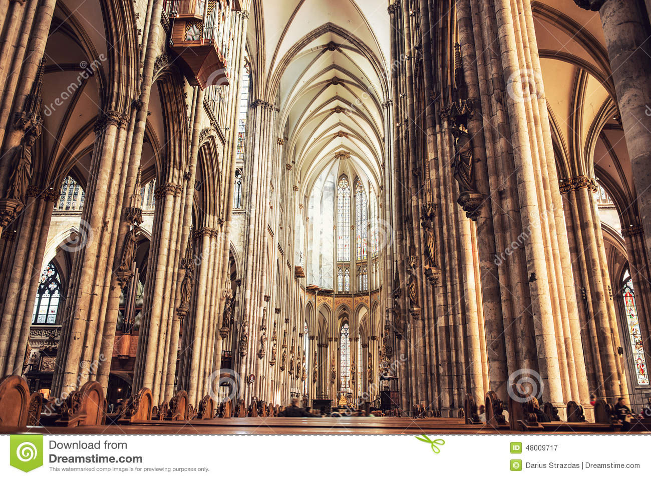 Interior Of Cologne Cathedral Stock Photo Image 48009717