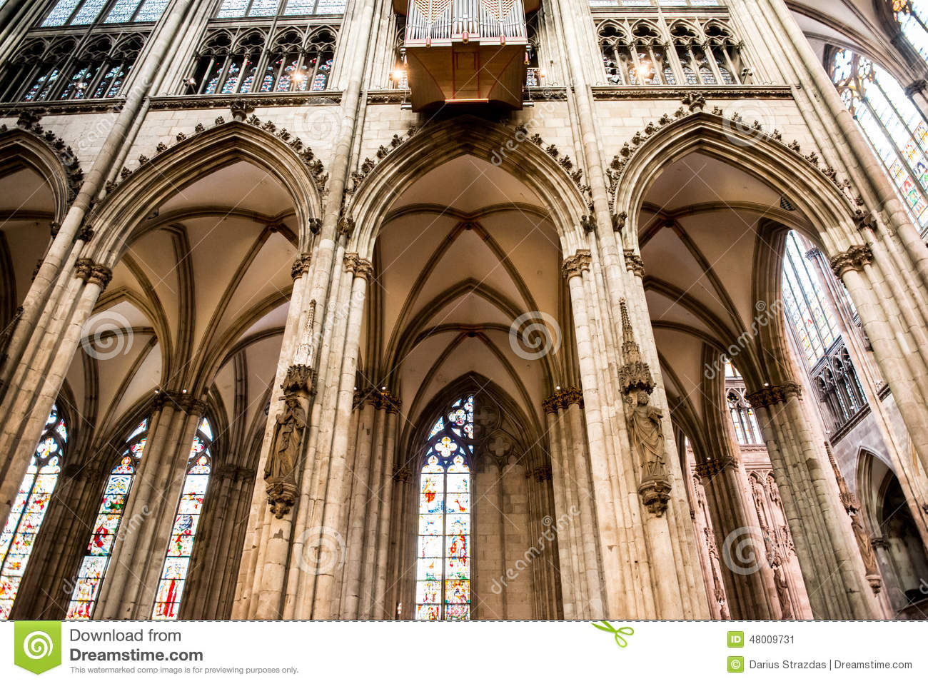 Interior Of Cologne Cathedral Stock Photo Cartoondealer