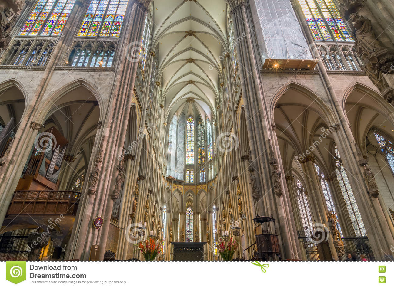 Interior Of The Cologne Cathedral Roman Catholic