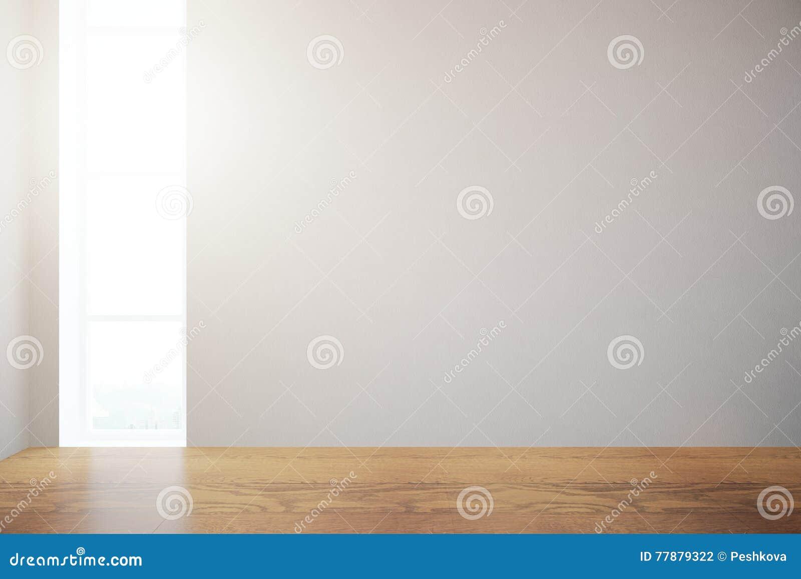 Interior Con La Pared En Blanco Stock de ilustración