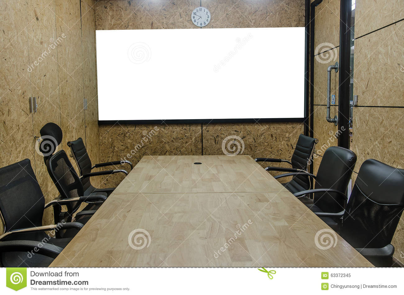 Interior Conference Room Empty Meeting Room Boardroom