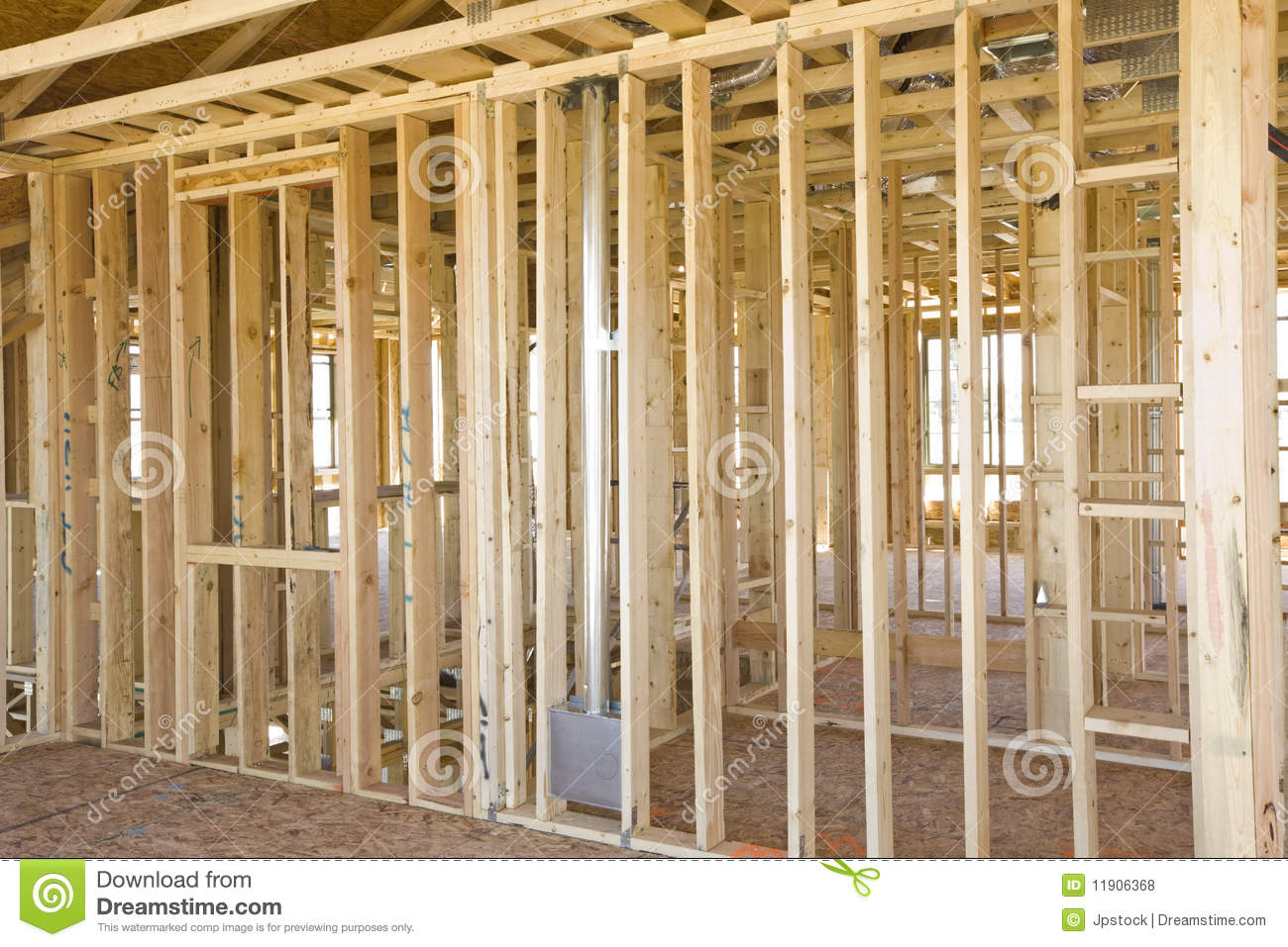Interior Construction Framing Stock Photo - Image of interior ...