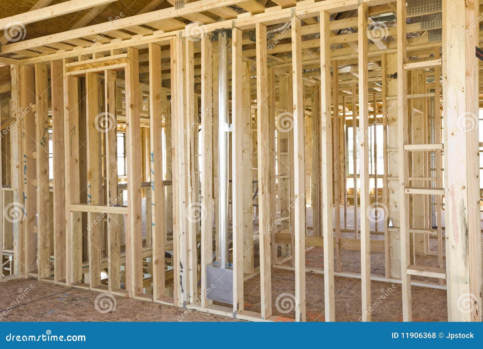 Interior Building Construction : Interior construction framing stock photo image of