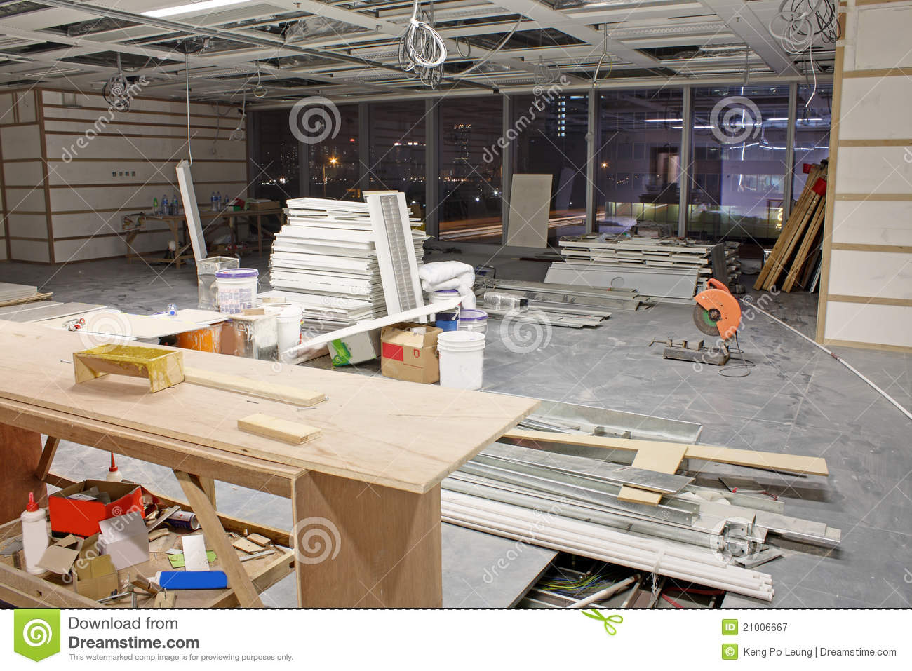 Interior construction site royalty free stock photography for Interior site
