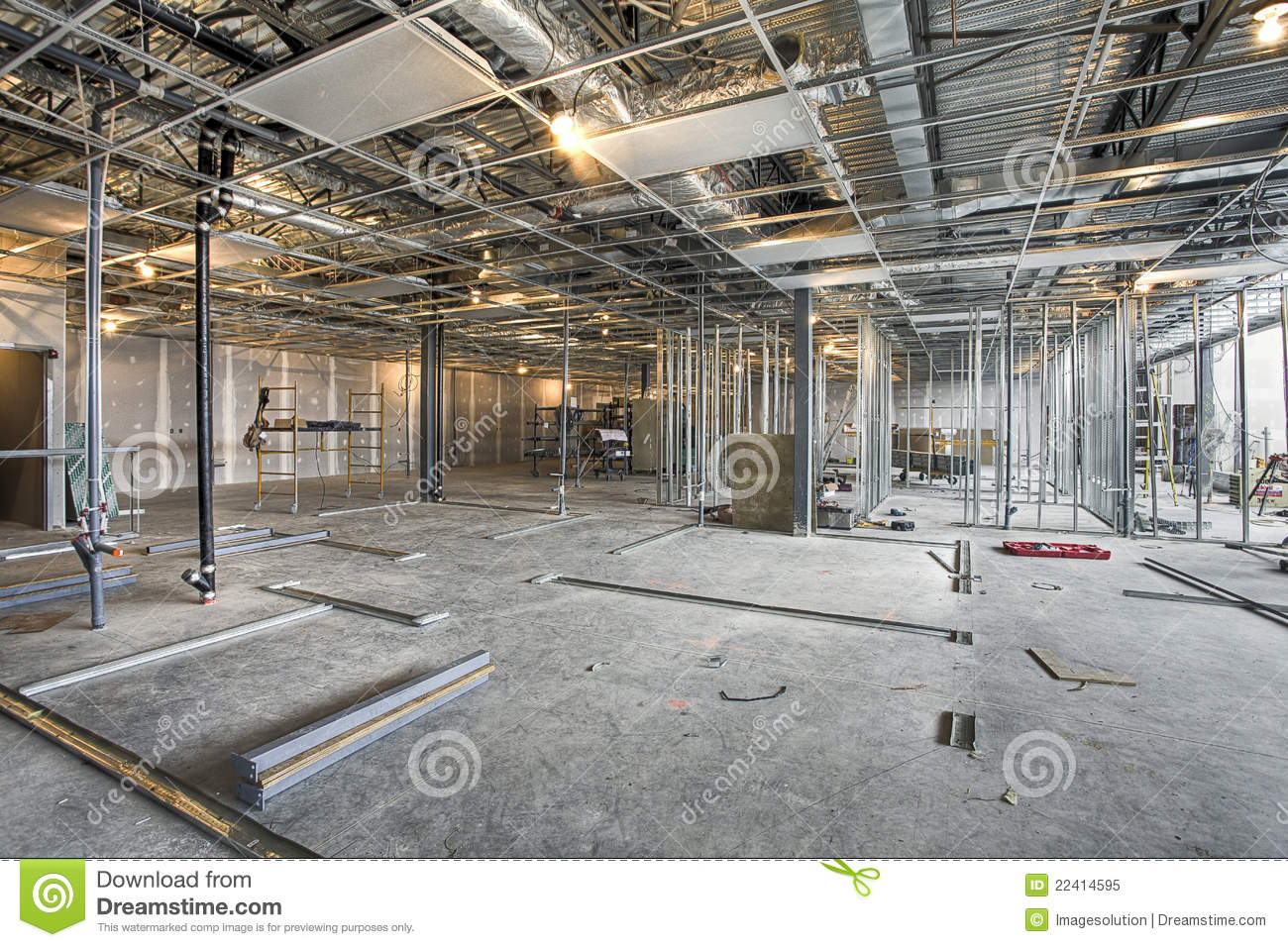 Interior construction site royalty free stock photo for Interior site