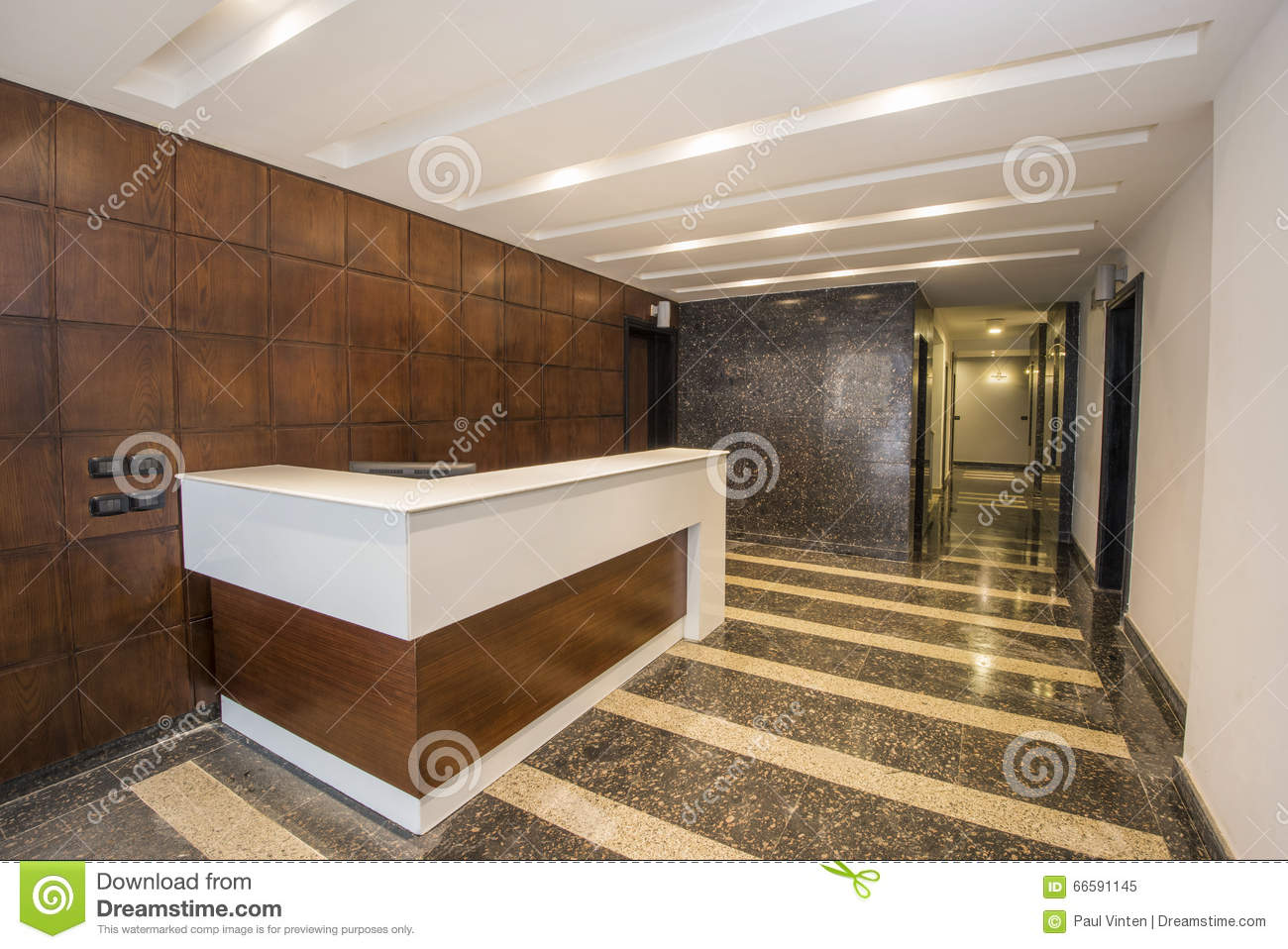 Interior Corridor Os A Luxury Apartment Building Stock Photo
