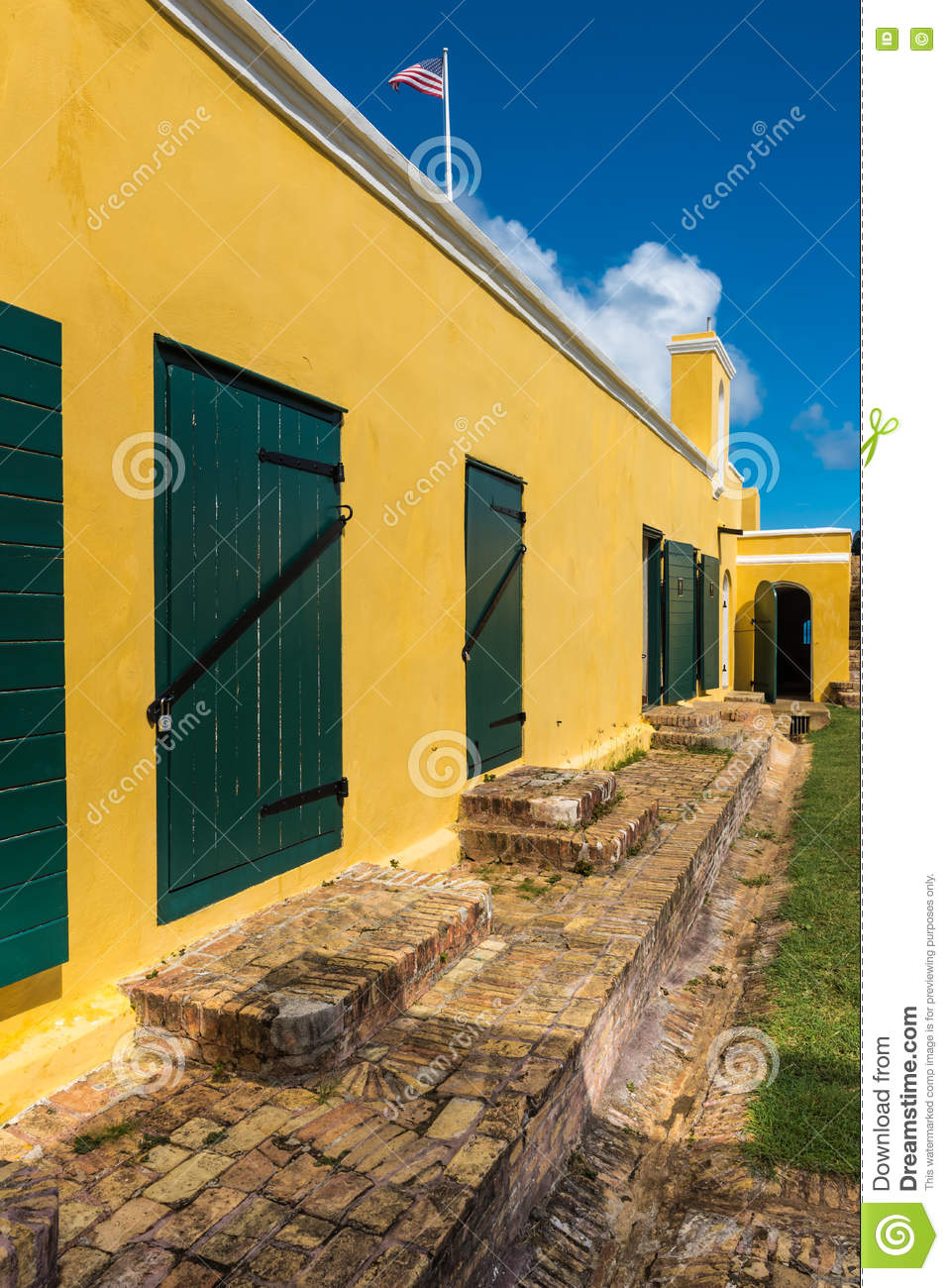 Interior Courtyard Of Fort Christiansted In St Croix Virgin Isl