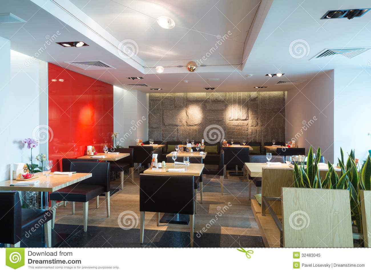 Interior Of The Cozy Cafe Royalty Free Stock Photo Image