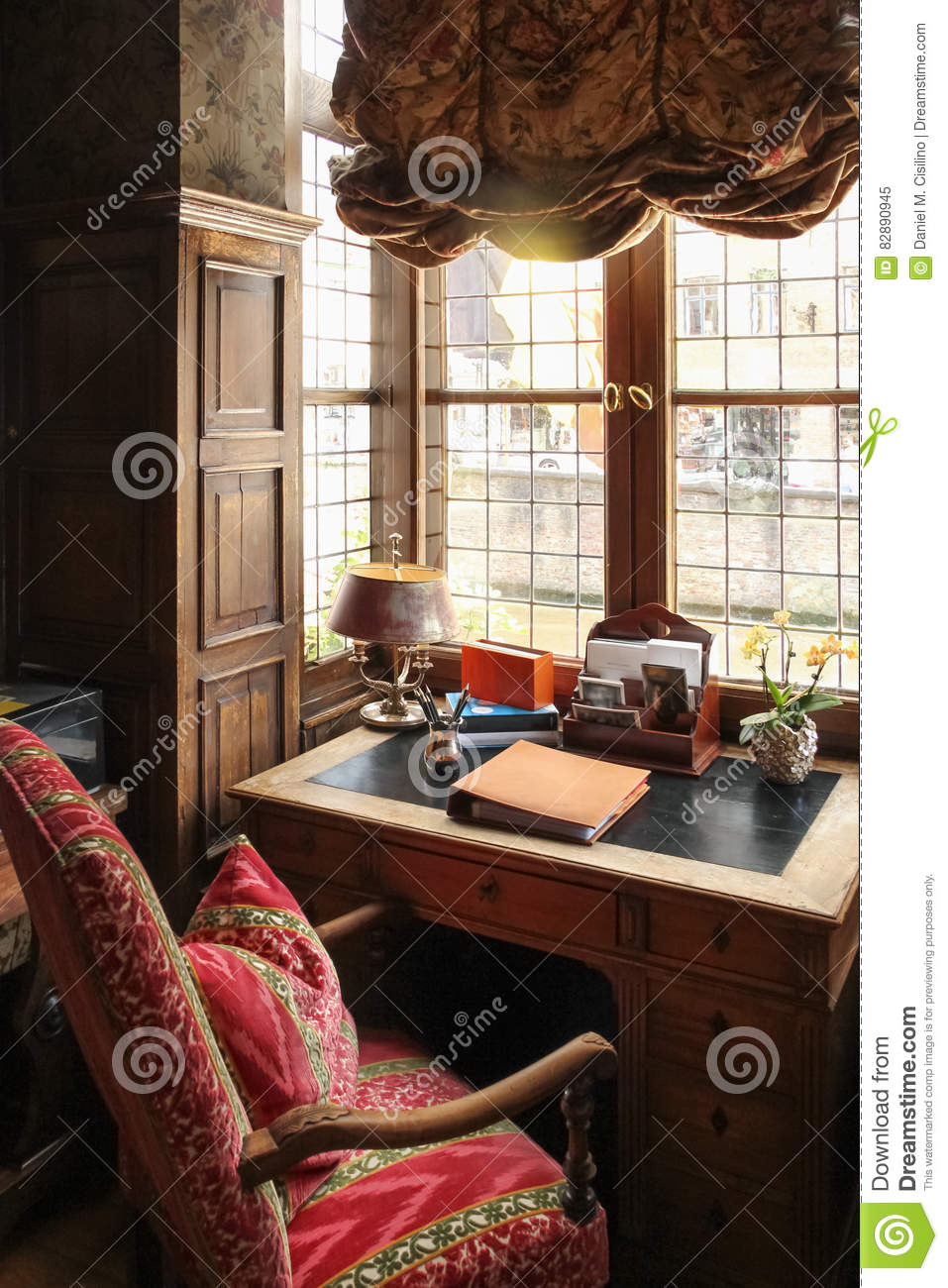 Interior Cozy Office Space Stock Image Image Of Couch