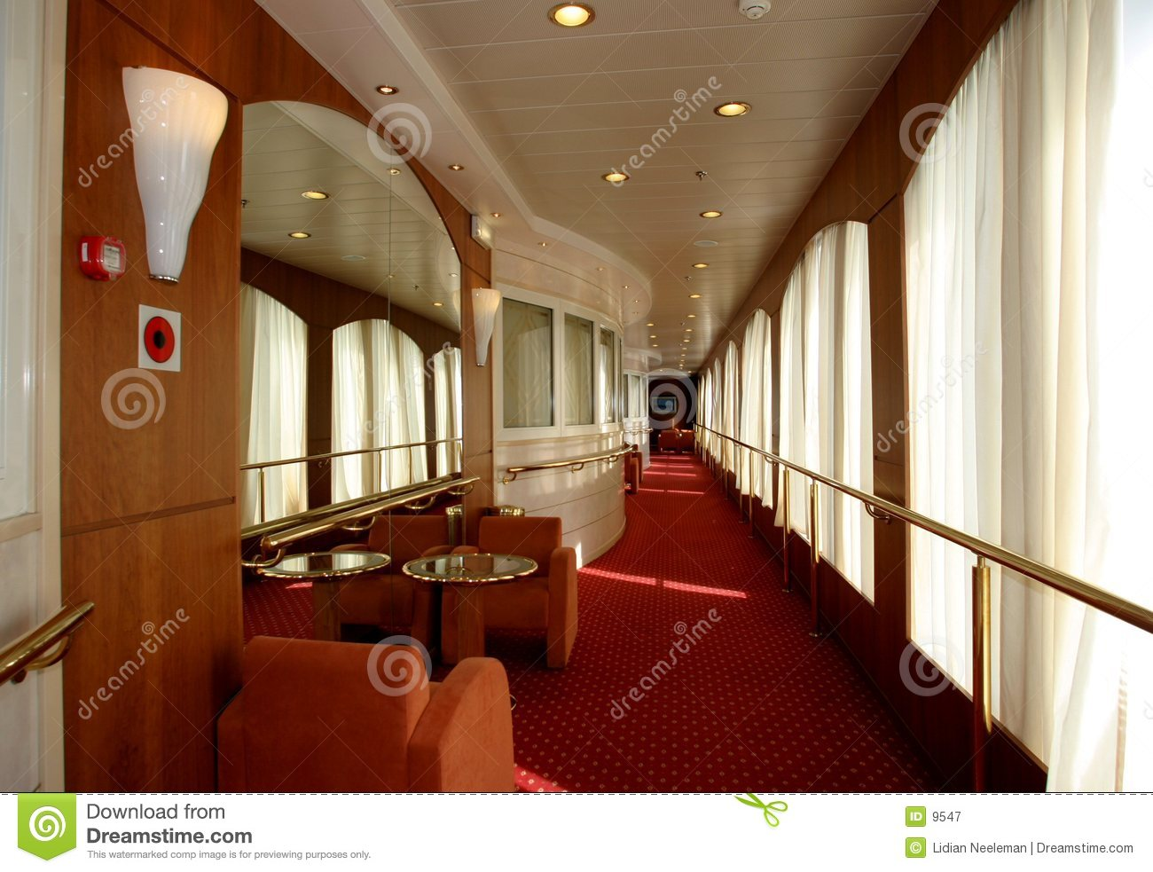 Interior cruise ship