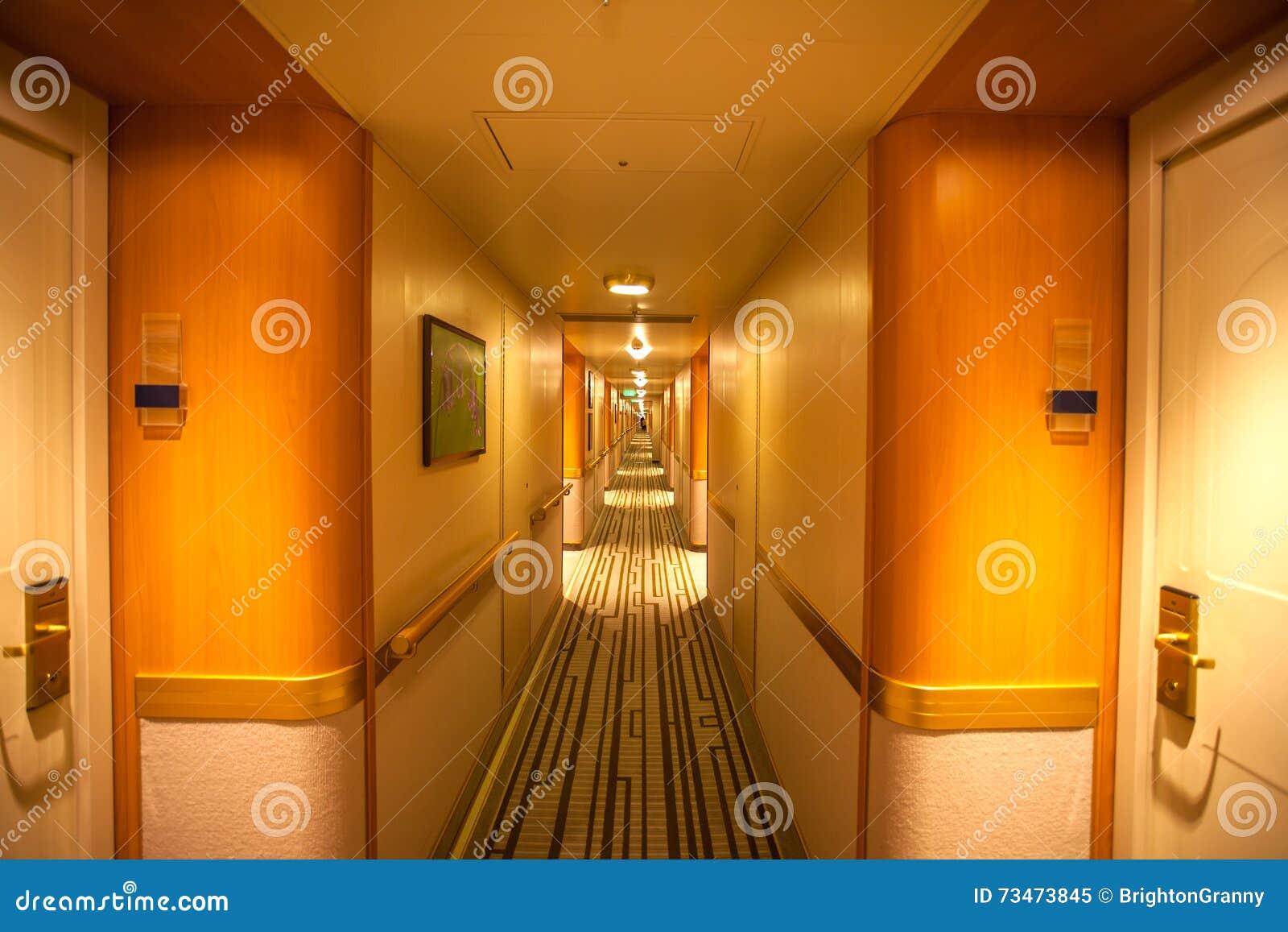 Interior of cruise ship azura stock image image 73473845 for Interior cabin doors