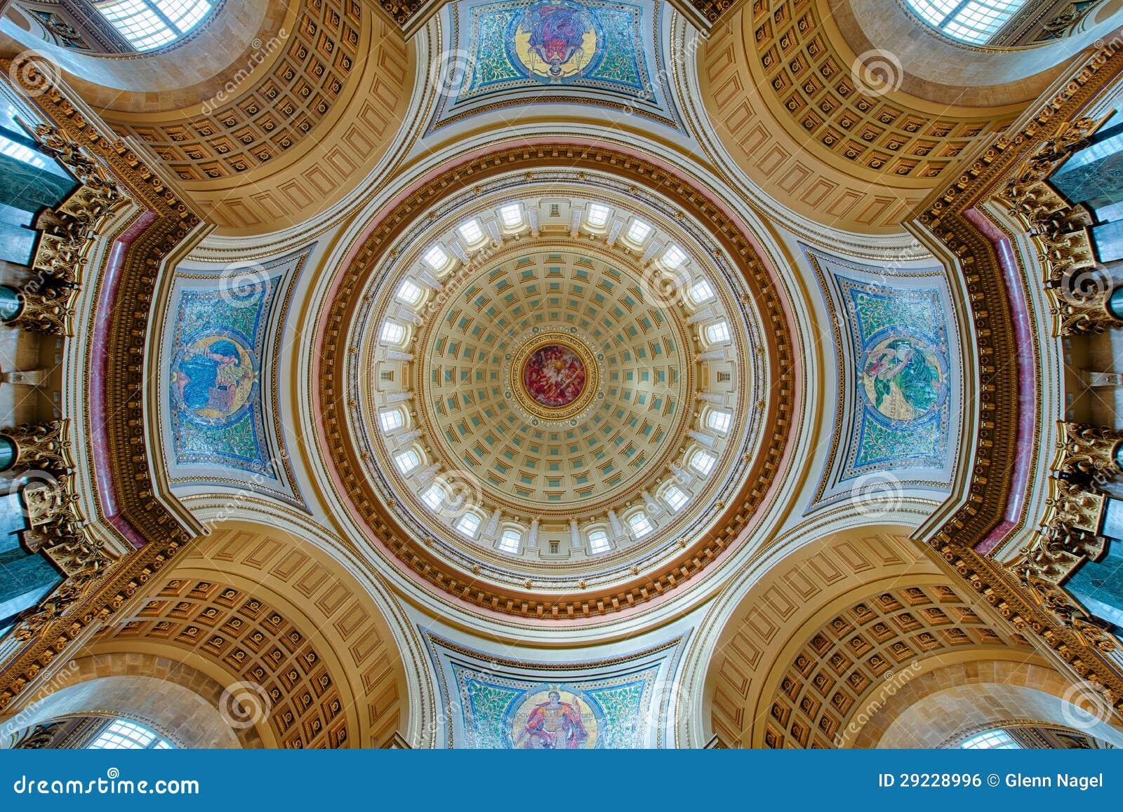Download Interior Da Abóbada Do Capitólio Foto de Stock - Imagem de interior, unido: 29228996