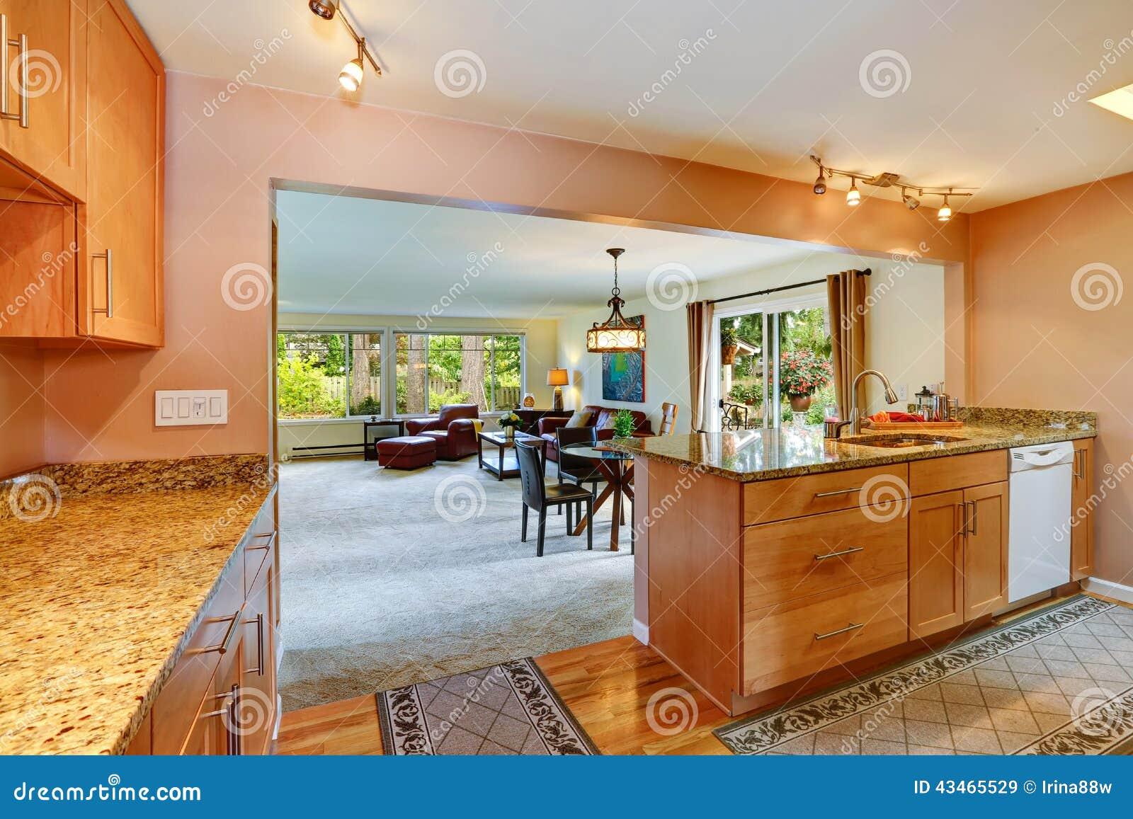 Planta Baixa Aberta Área Da Cozinha Foto de Stock Imagem: 43465529 #B24D17 1300 957