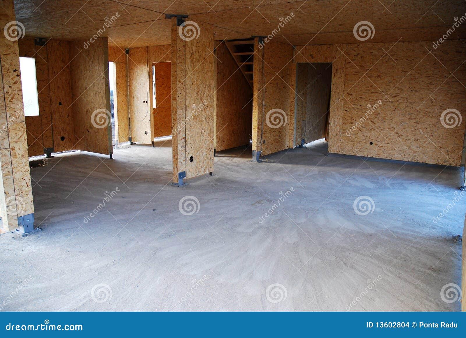 Interior Da Casa De Frame De Madeira Imagens De Stock