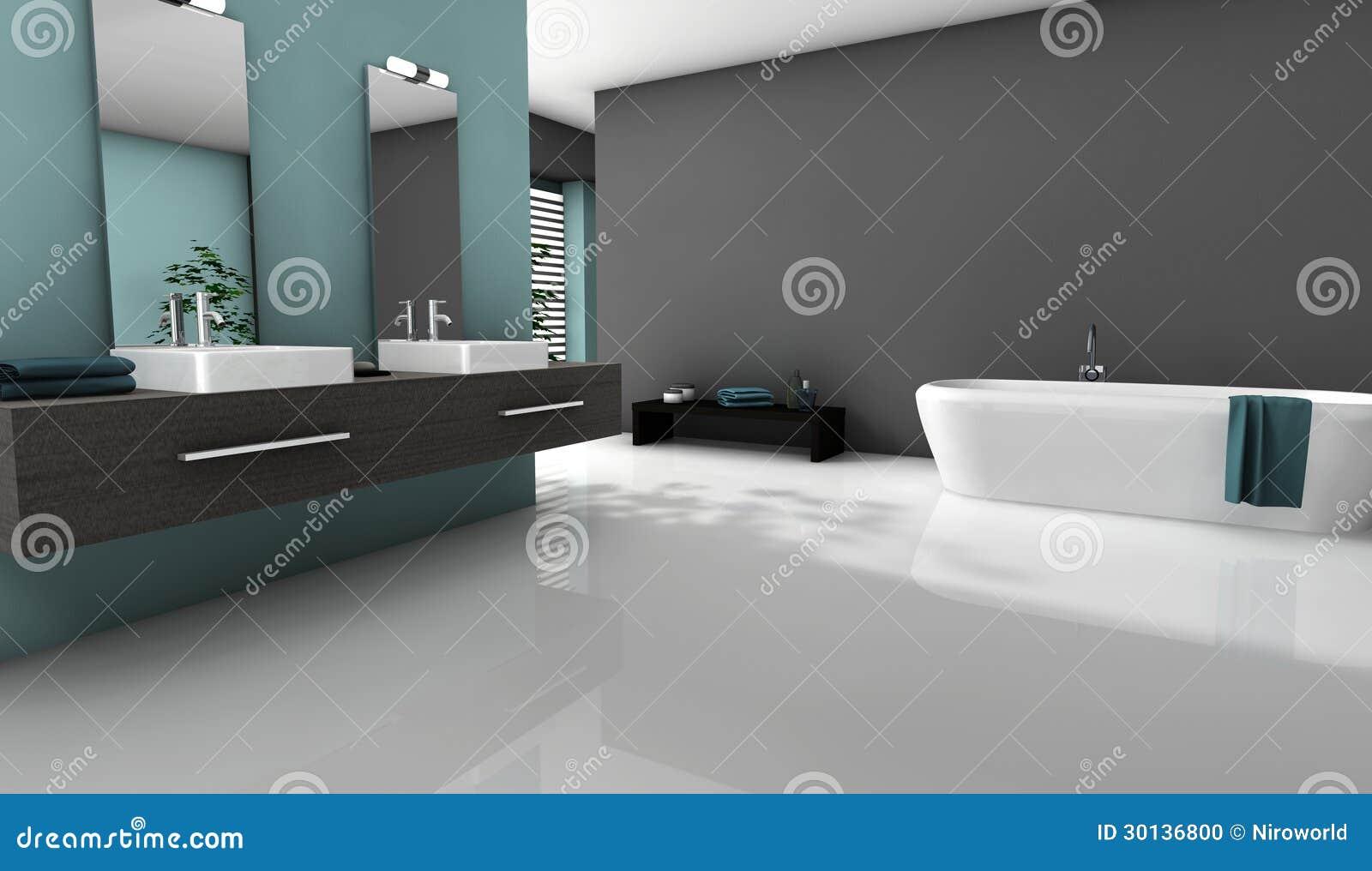 Interior da casa de um banheiro moderno com projeto contemporâneo e  #82A328 1300 843