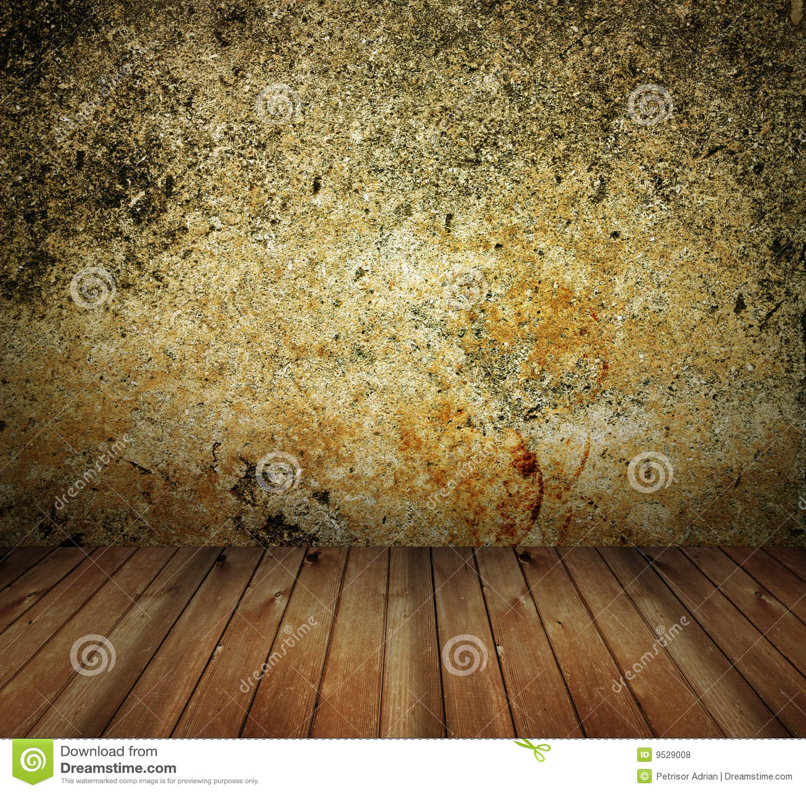Interior da casa do muro de cimento de Grunge