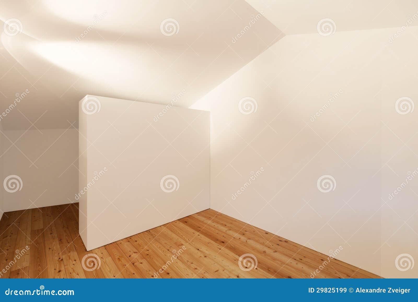 Sala interior, vazia