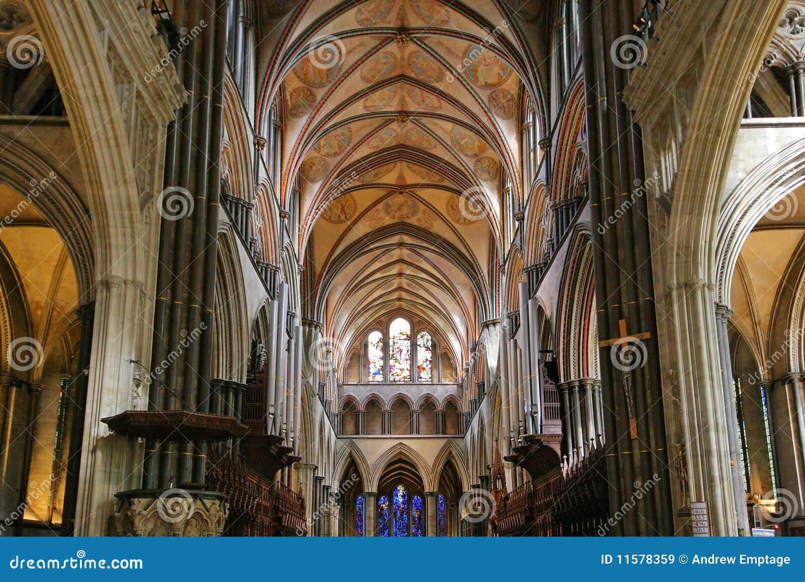 Interior da catedral de Salisbúria