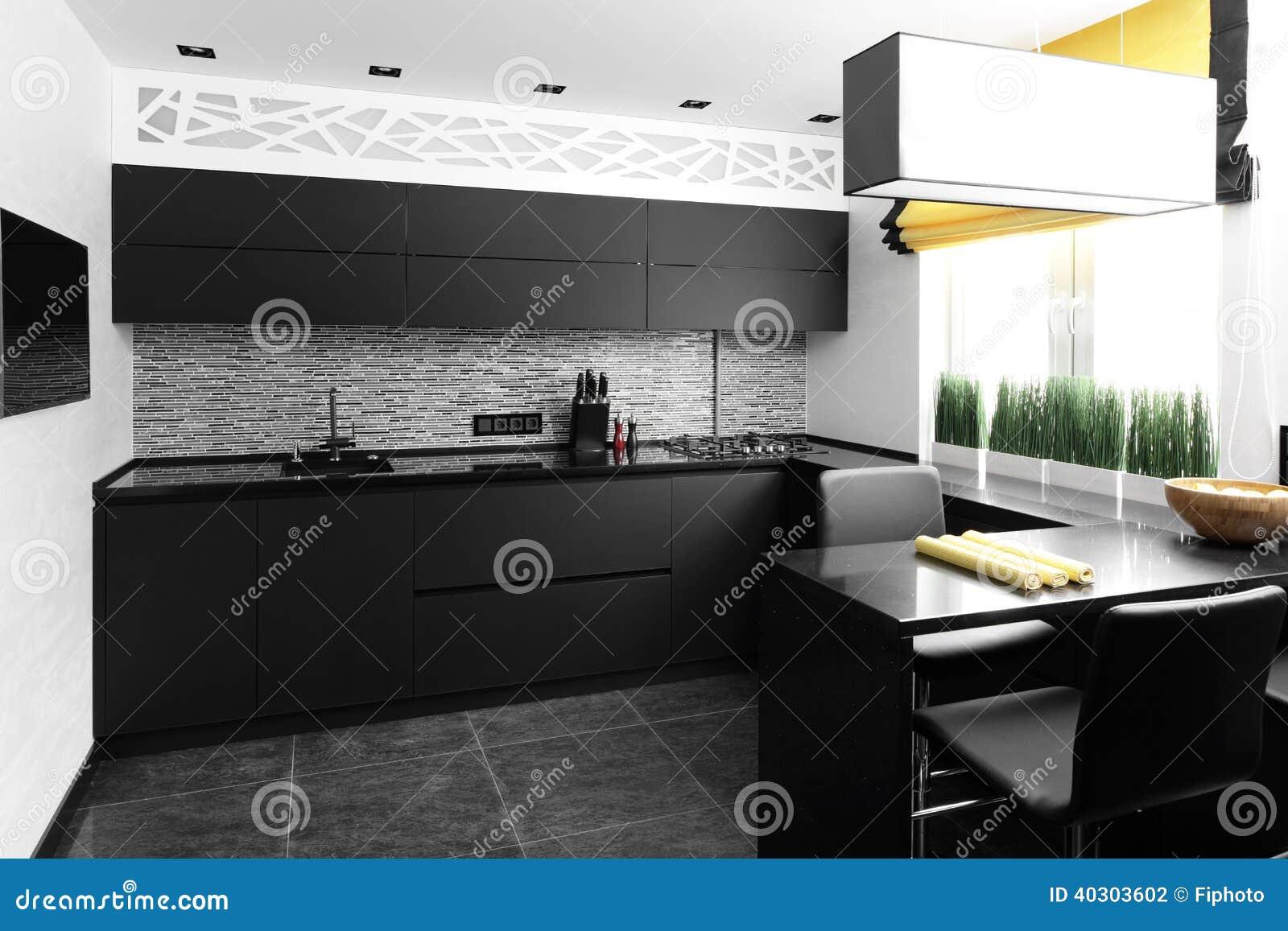 Interior Da Cozinha Europeia Moderna Foto de Stock Imagem: 40303602 #A89423 1300 957