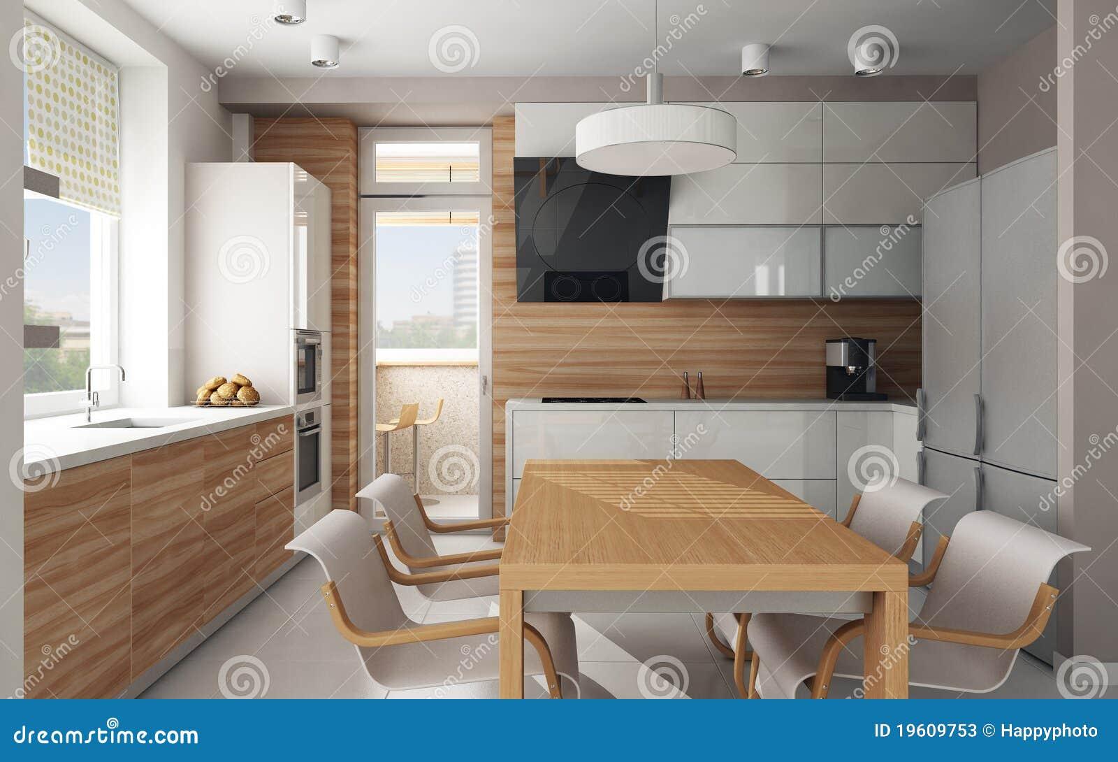 Interior Da Cozinha Moderna Fotos de Stock Imagem: 19609753 #82A328 1300 902