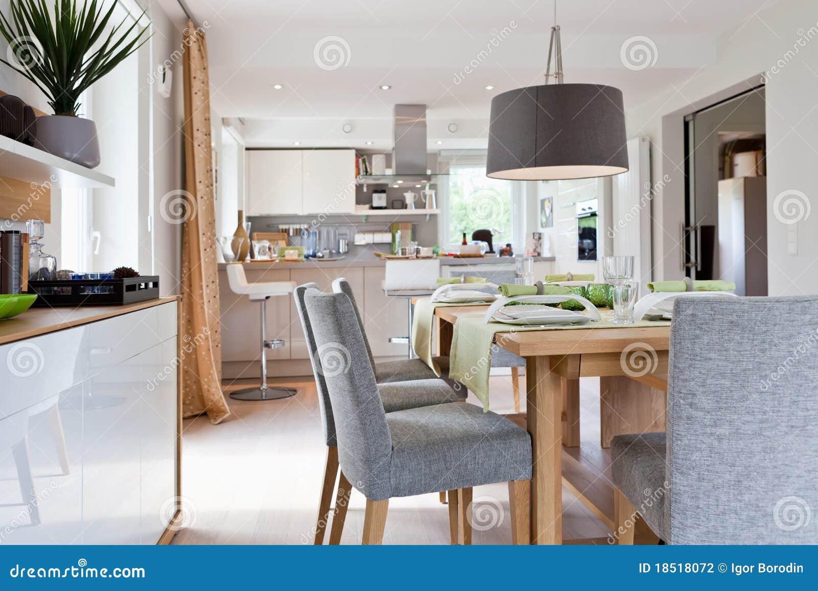 Interior da cozinha moderna da casa