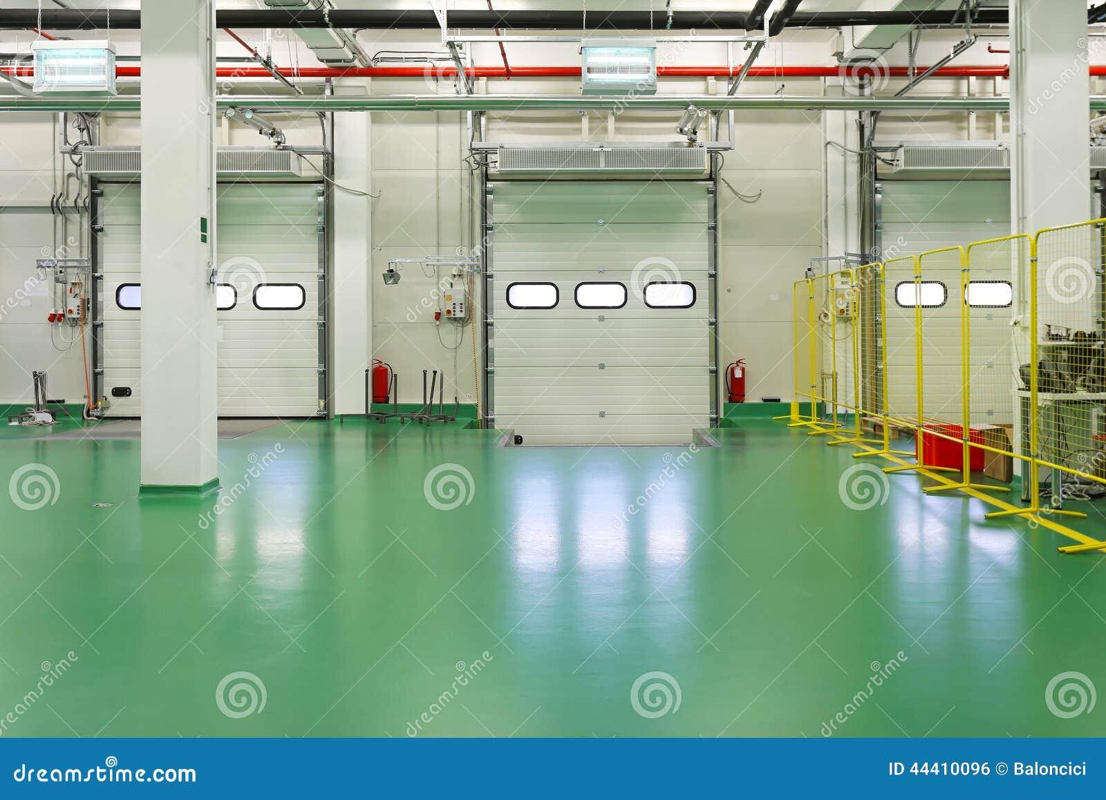 Interior da doca de carga
