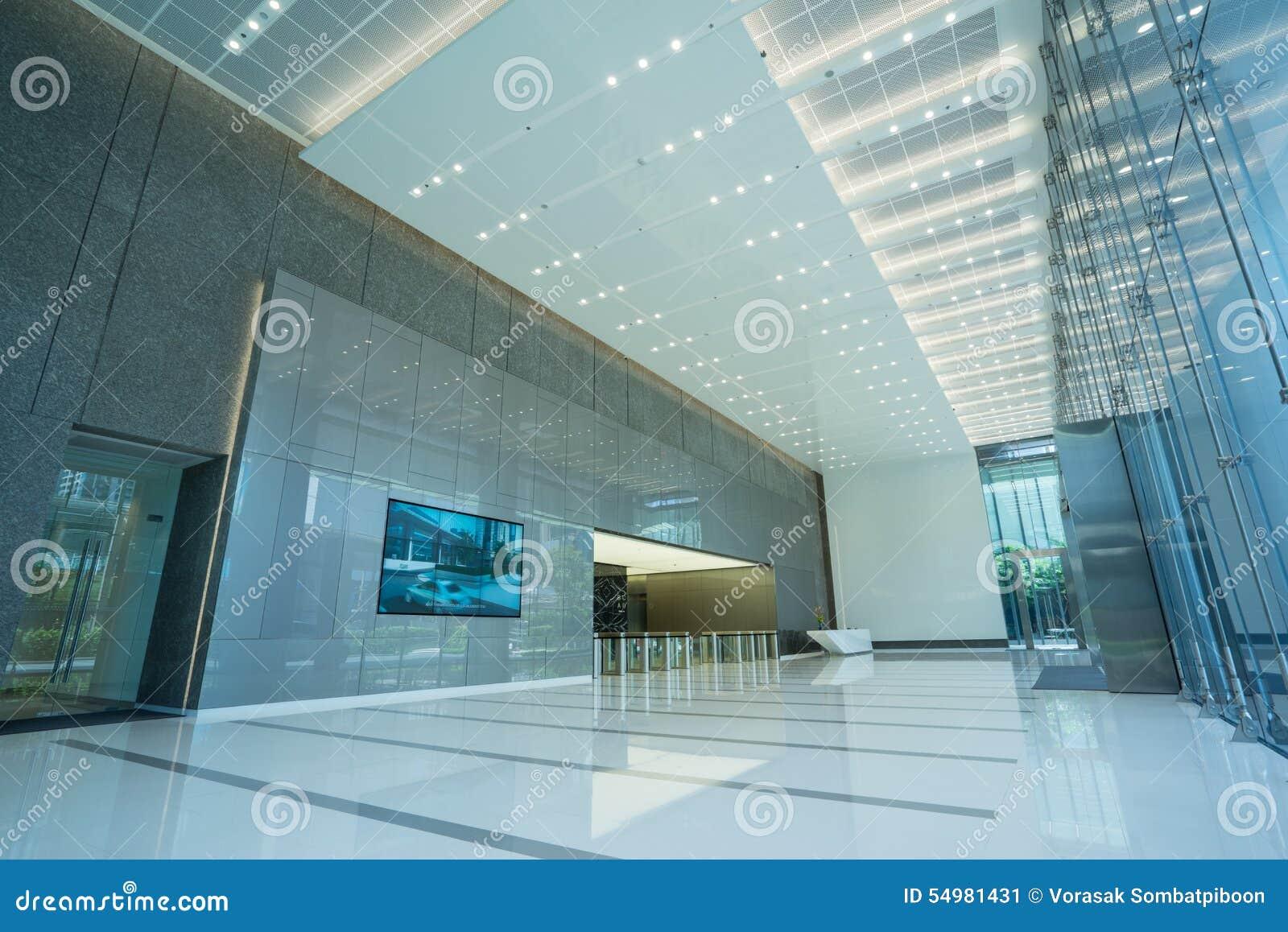 Interior da entrada do escritório