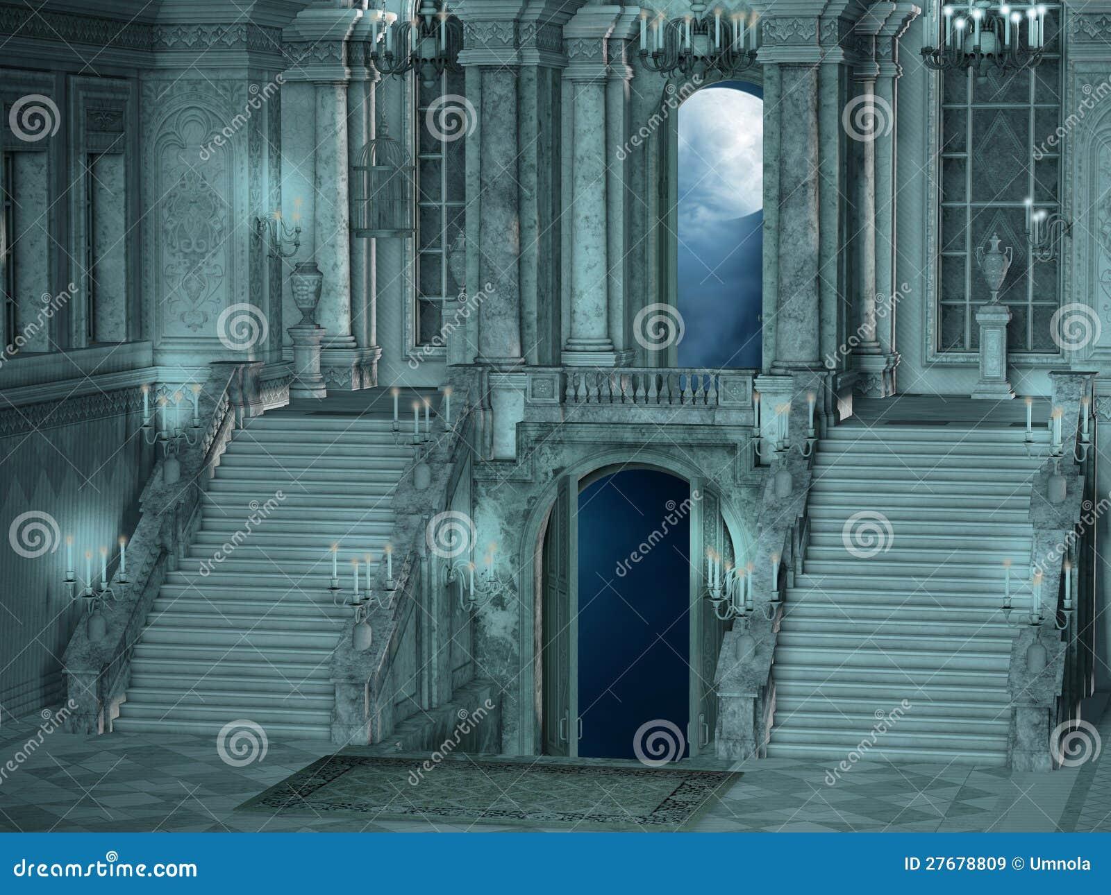 Interior da escada do palácio