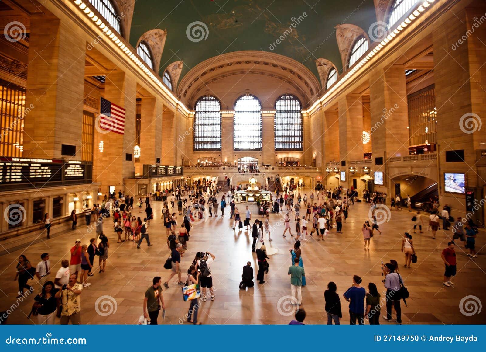Interior da estação central grande em New York City