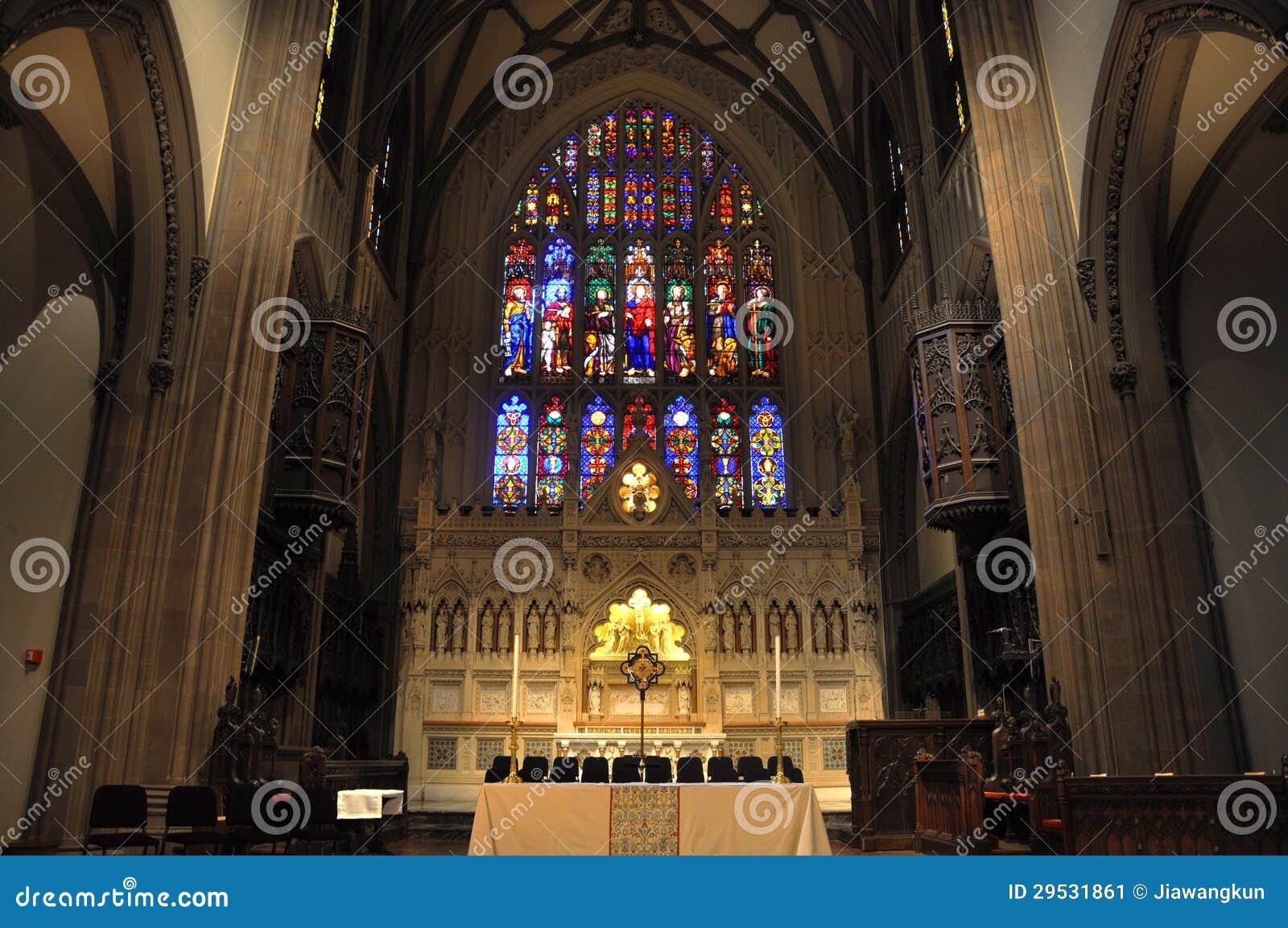 Interior da igreja de trindade, New York City