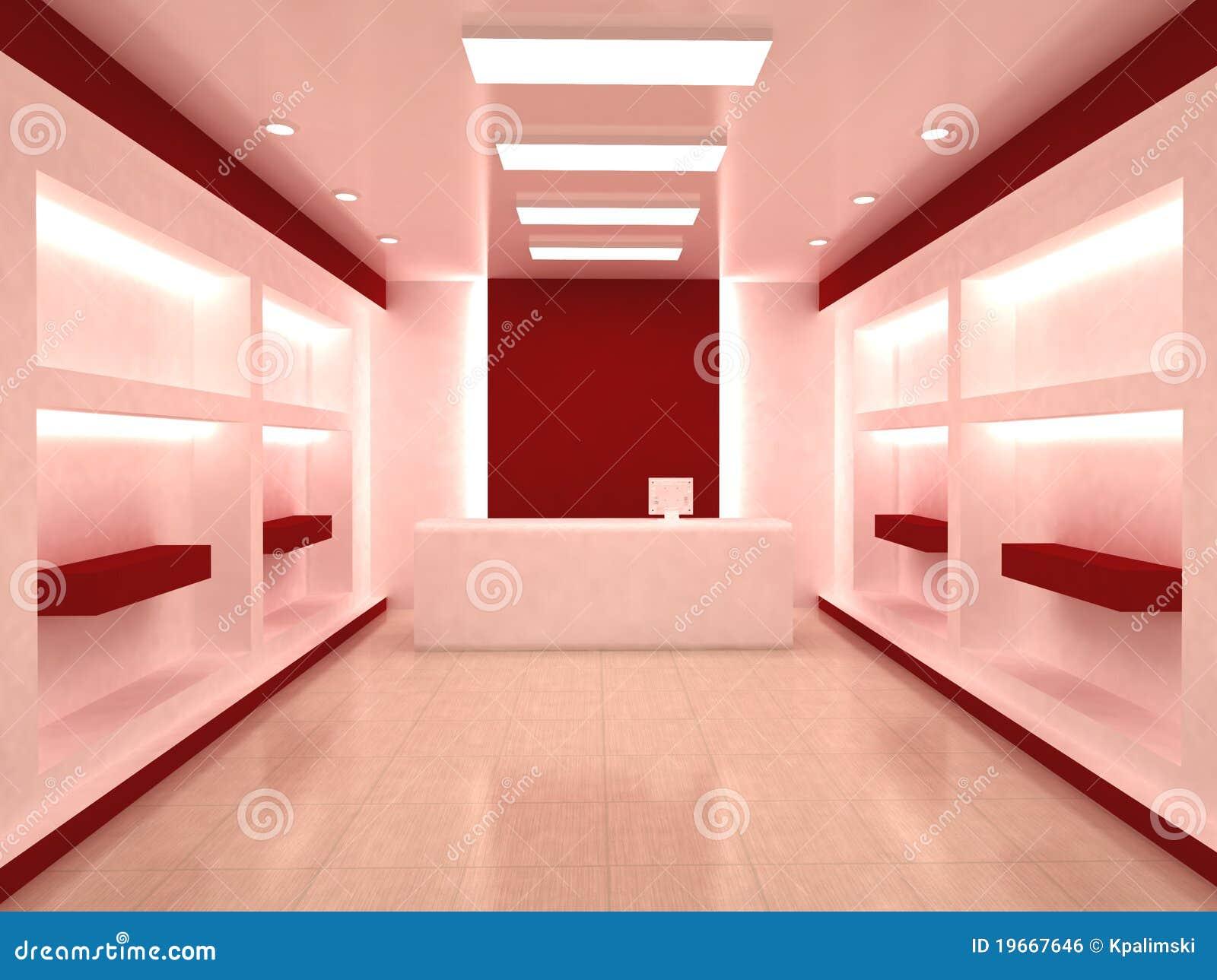 Interior da loja da loja