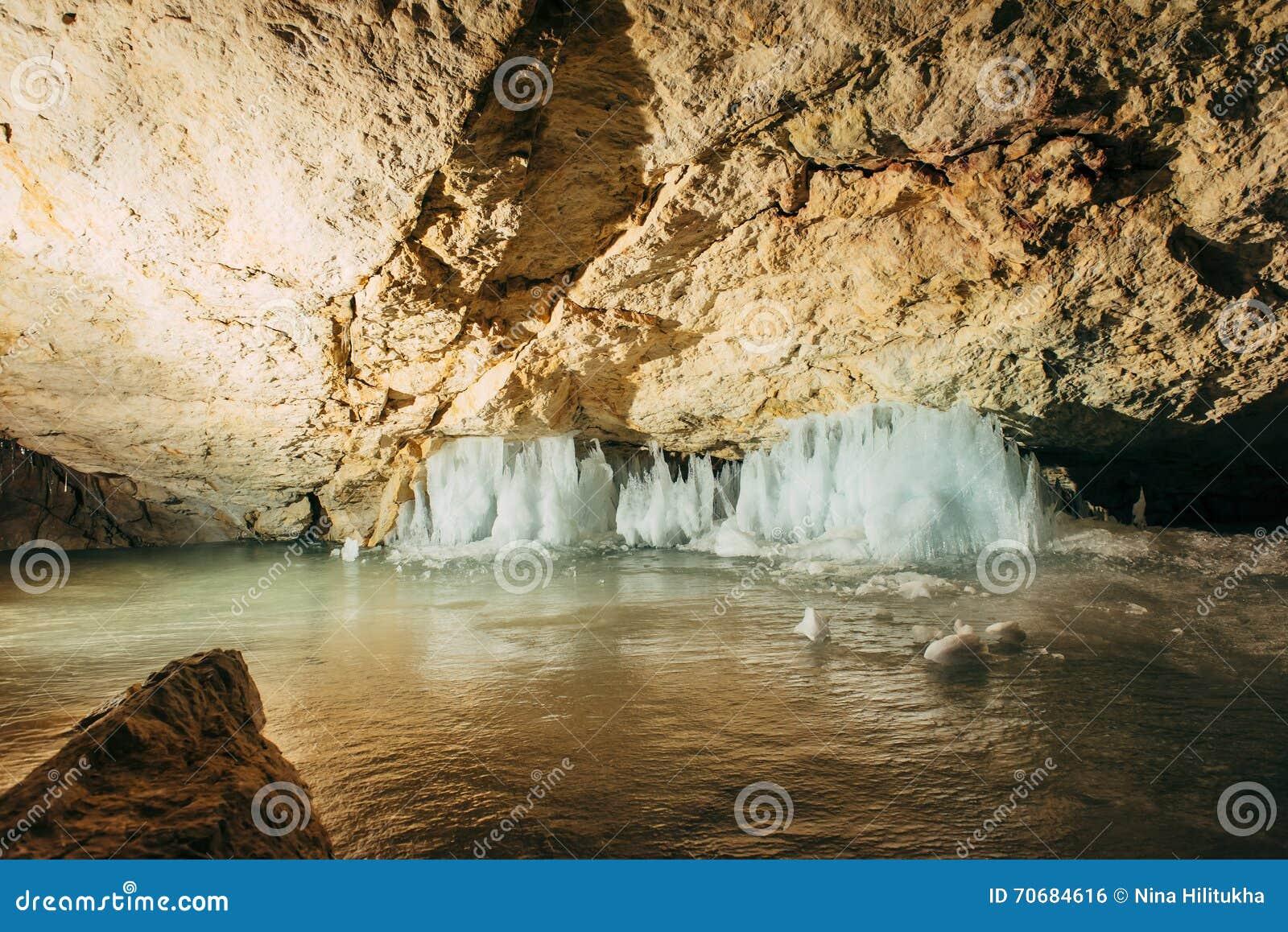 Interior of Dachstein ice cave
