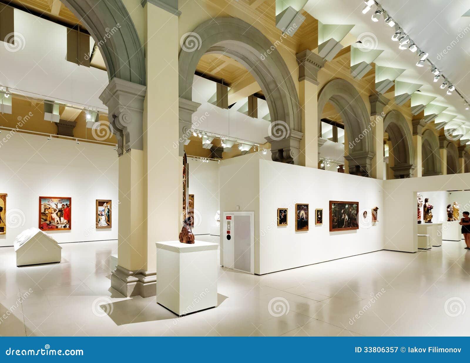 Interior de Art Museum nacional de Catalonia