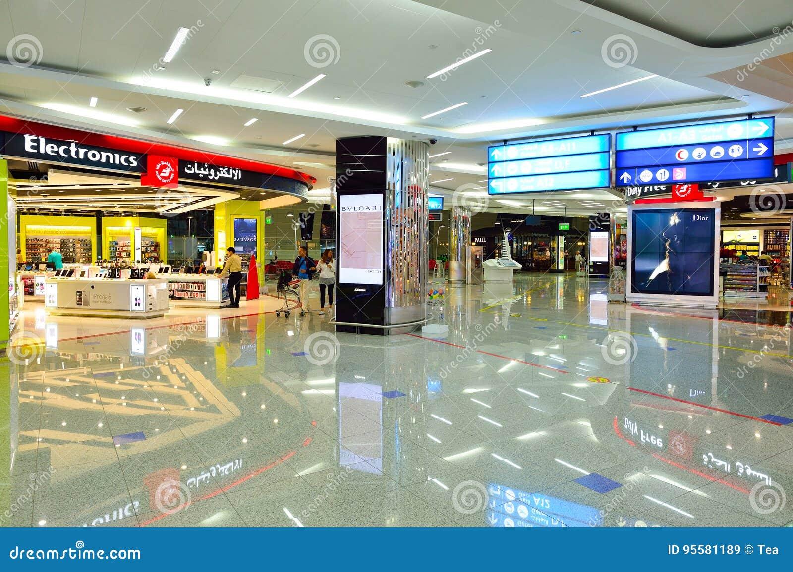 Interior De Dubai Con Franquicia Imagen de archivo editorial ...
