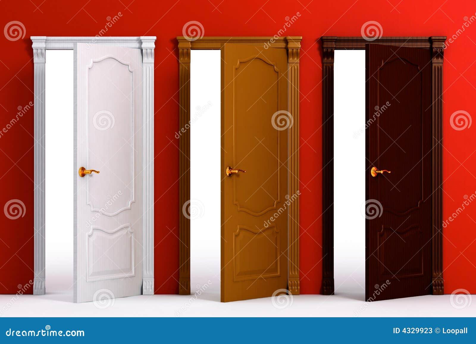 Interior de la casa de madera de la puerta fotos de - Puertas de casa interior ...