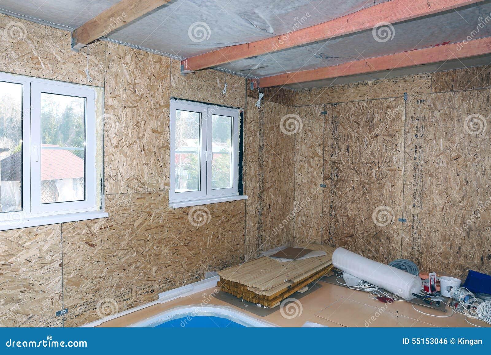 Interior De La Casa De Marco Bajo Construcción Foto de archivo ...