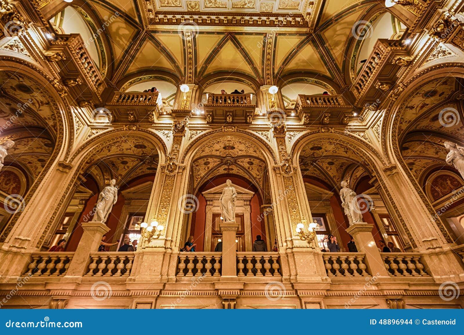 Interior de la casa del estado de la ópera, Viena
