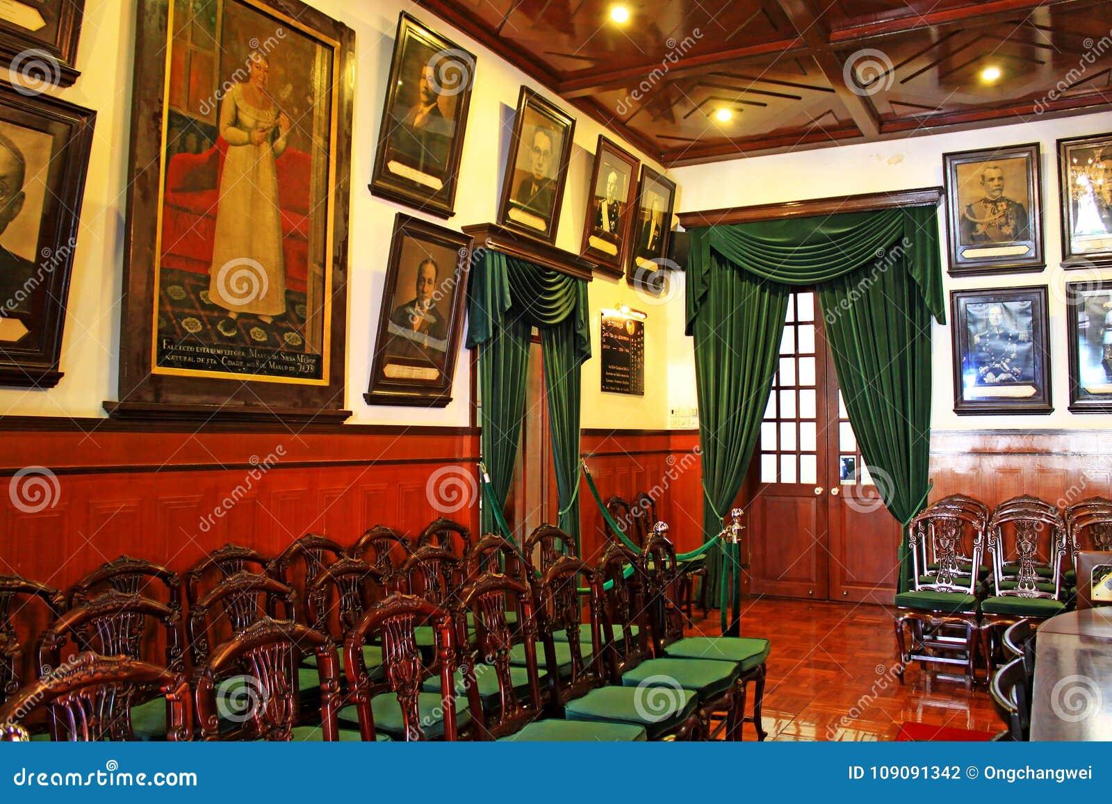 Interior de la casa santa de la misericordia, Macao, China