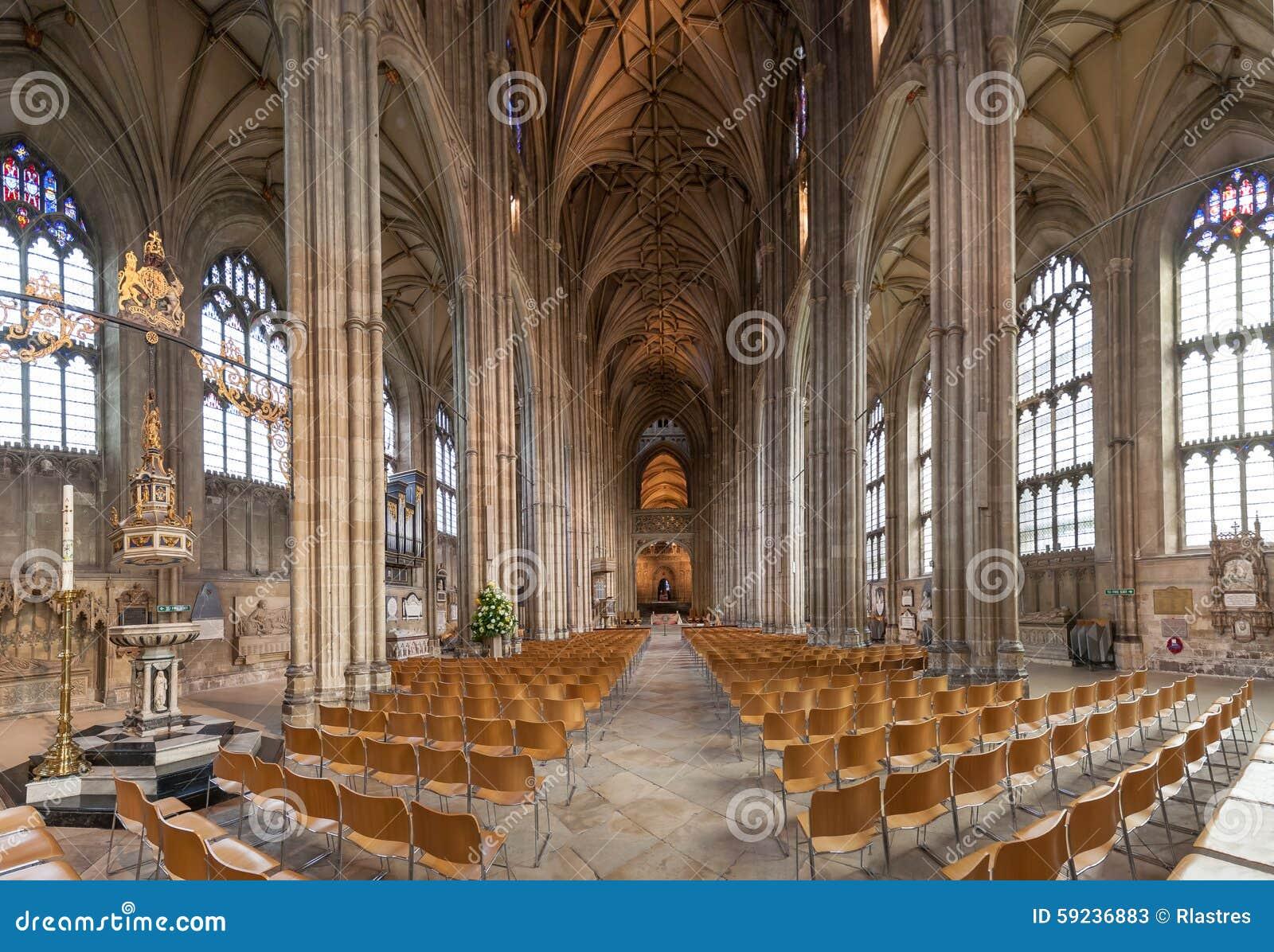 Interior de la catedral de Cantorbery, Kent, Inglaterra